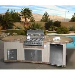 Chorcoal Kitchen 4 Burner Built In Gas Grill Backyard Patio Cook Poolside Living