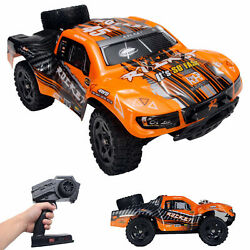 REMO 1 16 RC Truck 2.4Ghz 4WD High Speed Off road Car Short Course Truck Orange $68.98