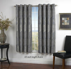 Brookfield Lined NatureFloral Blackout Grommet Single Curtain Panel