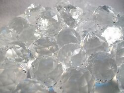 Lot 28 Faceted Clear Acrylic Prism Balls for Chandelier Crafts Sun Catchers AC1 $9.75