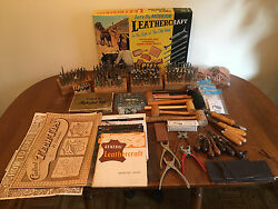 Craftool Craft Tool Leather Tool Lot Tandy Stamp Punch Set Kit Instruction 325+!
