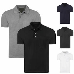 MENS NEW POLO SHIRT PLAIN UNISEX SHORT SLEEVE  PIQUE STYLE CASUAL WORK T SHIRT $6.27