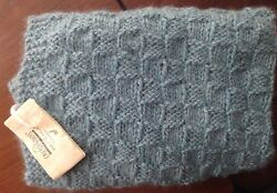 NWT! Cascade Fine Yarns 100% Baby Alpaca Chunky Heather Aqua Blue Throw Blanket