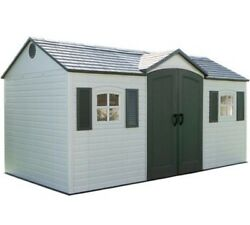 Outdoor Storage Shed 15x8 Cabin Carport Garden Plastic Sheds Building Garage Kit