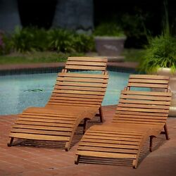 Chaise Lounge Chairs Clearance Poolside Deck Set Of Two Folding Wood Reclining