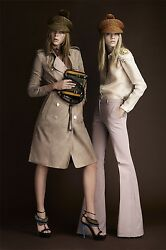 $6000 RUNWAY Burberry Prorsum 6 8 40 Suede Leather Cashmere Trench Coat Women A