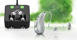 2x Brand New Siemens Signia CELLION 7PX Recharageble RIC 48 Channel Hearing Aid