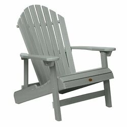Coastal Teak Plastic Folding Patio Adirondack Chair Home Living Garden Furniture