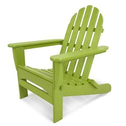 Adirondack Lime Plastic Folding Patio Chair Contemporary Home Garden Furniture