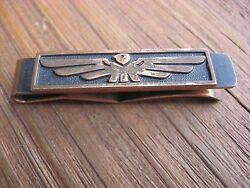 VINTAGE COPPER THUNDERBIRD SOUTHWEST ART DECO MODERN TIE BAR MONEY CLIP