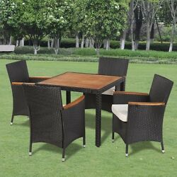 Bistro Table And Chairs Set Patio Outdoor Indoor Dining Garden Rattan Furniture