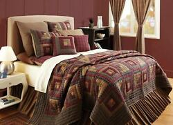 Millsboro King Log Cabin Country Patchwork Quilt by VHC Brands