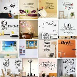 Vinyl Home Room Decor Art Quote Wall Decal Stickers Bedroom Removable Mural DIY $8.99