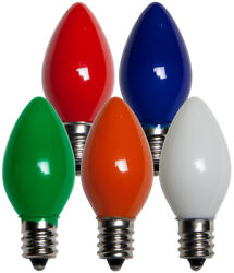 25 C7 Multi Color Ceramic Replacement Bulbs Christmas Party Holiday Wedding $5.95