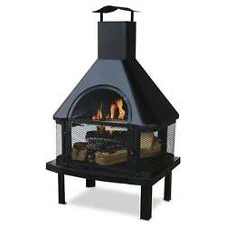 Endless Summer Outdoor Wood Burning 360 Degree Chimney Fire Pit (Open Box)