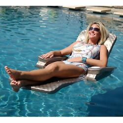 Pool Floating Lounge Chair Folding Lounger Bronze Water Foam Floats