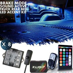 X LIGHT Truck Bed LED Multicolor Pickup Liner Kit Music Active Stop Function $51.99