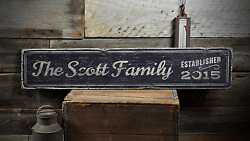 Established Date Family Rustic Family Rustic Distressed Wood Sign $54.00