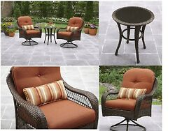Bistro Patio Table And Chairs Set Deep Seat Garden Porch Deck Outdoor Furniture