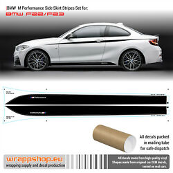 BMW M Performance Side Skirt Stripes decals Set for F20F21F22F23