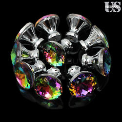Diamond Door Drawer Pull Handles Colorful Crystal Glass Cabinet Knobs 10PCS Pack $12.99