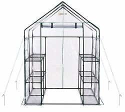 12 Shelf Portable Garden Patio Small Walk In Greenhouse cover Structure Kit N