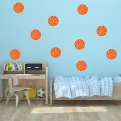 4 5quot; Basketball Vinyl Wall Decals Pick Color Sports Decal Kid#x27;s Room $4.99