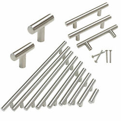 New Stainless Steel T Bar Cabinet Handles Kitchen Pulls Drawer Knobs ∅12