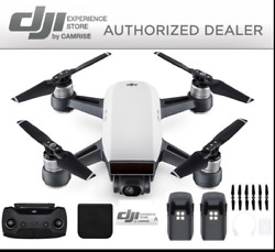 DJI Spark Drone Quadcopter Remote Plus Extra Battery Bundle in White $448.00