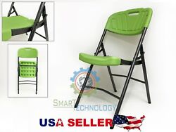 NEW Indoor Outdoor Plastic Folding Utility Chair Steel Frame LONG  LIFE