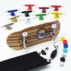 P-REP NOLO 34mm Zebra Complete Wooden Fingerboard - Pick Trucks and Wheels