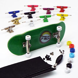 P-REP NOLO 34mm Green Complete Wooden Fingerboard - Pick Trucks and Wheels