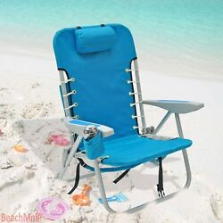 Hi-Back BackPack Aluminum Beach Chair with Padded straps