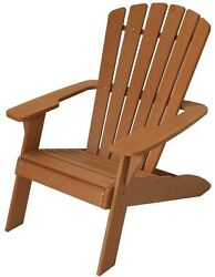 Outdoor Patio Deck Adirondack Seating Chair Classic Design Weather UV Resistant