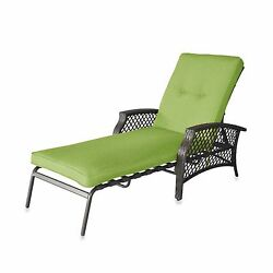 Lime Padded Chaise Lounge Backyard Outdoor Garden Home Beach Patio Pool Chair