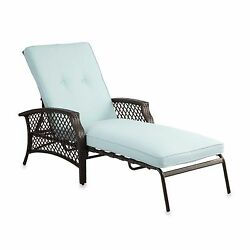 Mist Padded Chaise Lounge Home Yard Outdoor Garden Home Beach Patio Pool Chair