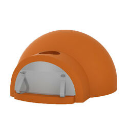 Orange Forniref Brick Hearth Outdoor Bread Baking Modular Pizza Oven Wood Fired