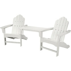 Hanover Outdoor Rio 3-piece White All-weather Adirondack Chair Set