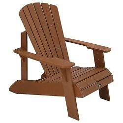 New Brown Polywood Adirondack Chair Outdoor Patio Deck Seating Furniture