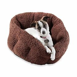 Orthopedic Indoor Outdoor House Pet Dog Cat Plush Sherpa Warm Cozy Comfort Bed