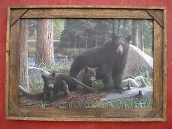 western rustic art picture frame home decor