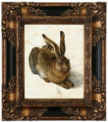 Durer Hare The Rabbit 1502 Wood Framed Canvas Print Repro 8x10 $69.63