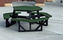 Frog Furnishings Recycled Plastic Hex Picnic Table