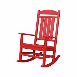 Red Outdoor Yard Garden Porch Deck Veranda Patio Pool Home Rocking Rocker Chair