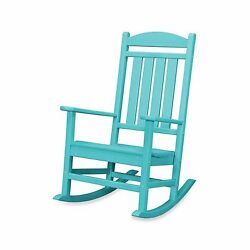 Aqua Blue Outdoor Home Yard Garden Porch Veranda Deck Pool Rocking Rocker Chair