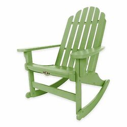 Green Durawood Outdoor Garden Veranda Deck Pool Adirondack Rocker Rocking Chair