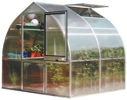 Durble Without Floor Metallics Exaco Riga 7 ft. 8 in. W x 7 ft. L 2S Greenhouse