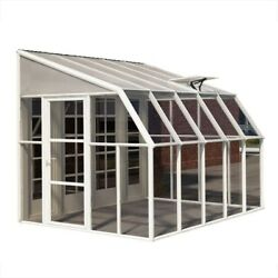 Whites Without Floor Door Latch Rion Sun Room 8 ft. x 10 ft. Clear Greenhouse