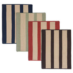Light House Natural Stripe Reversible Outdoor Rug (6' x 9') - 6' x 9'
