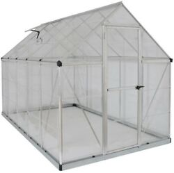 Without Floor Palram Harmony 6 ft. x 10 ft. Polycarbonate Greenhouse Silver